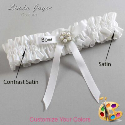 Couture Garters / Custom Wedding Garter / Customizable Wedding Garters / Personalized Wedding Garters / Cindi #01-B04-M20 / Wedding Garters / Bridal Garter / Prom Garter / Linda Joyce Couture
