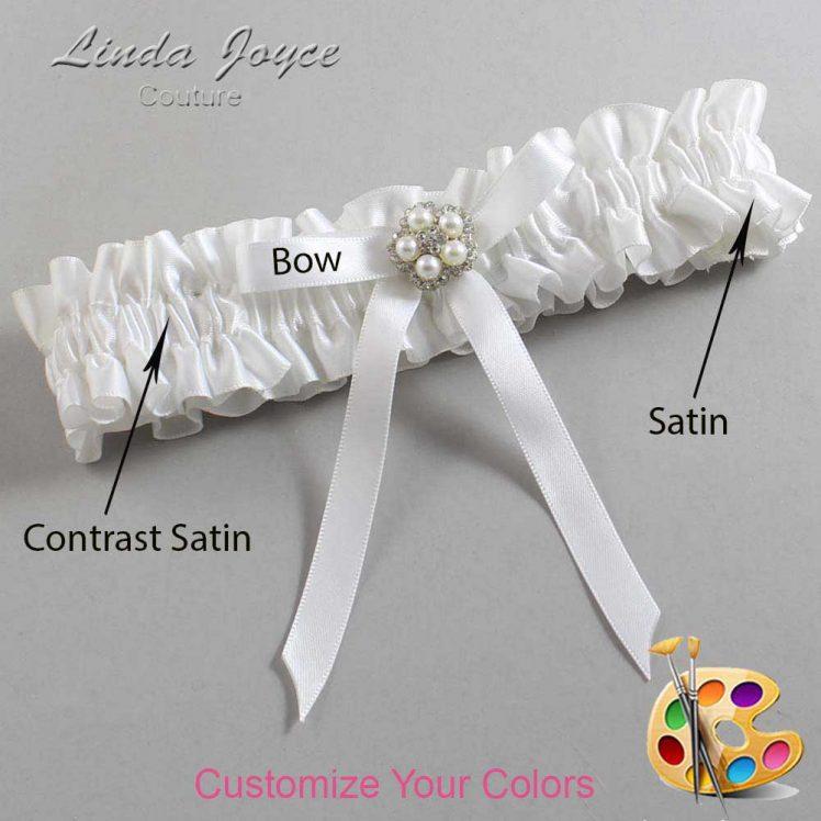 Couture Garters / Custom Wedding Garter / Customizable Wedding Garters / Personalized Wedding Garters / Cindi #01-B04-M20 / Wedding Garters / Bridal Garter / Prom Garter / Linda Joyce Couture