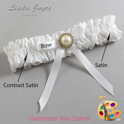 Couture Garters / Custom Wedding Garter / Customizable Wedding Garters / Personalized Wedding Garters / Dixie #01-B04-M21 / Wedding Garters / Bridal Garter / Prom Garter / Linda Joyce Couture