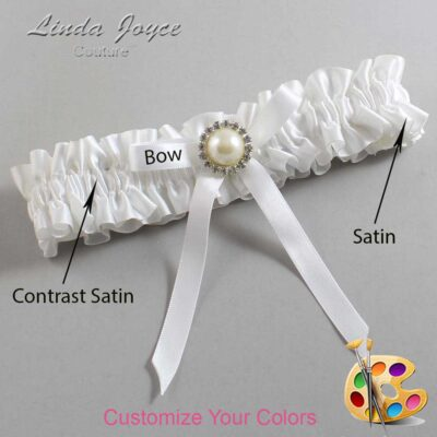 Couture Garters / Custom Wedding Garter / Customizable Wedding Garters / Personalized Wedding Garters / Dixie #01-B04-M22 / Wedding Garters / Bridal Garter / Prom Garter / Linda Joyce Couture