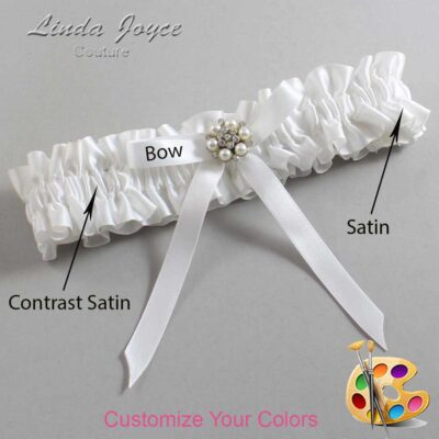 Couture Garters / Custom Wedding Garter / Customizable Wedding Garters / Personalized Wedding Garters / Donna #01-B04-M23 / Wedding Garters / Bridal Garter / Prom Garter / Linda Joyce Couture