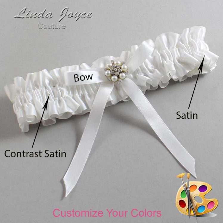 Couture Garters / Custom Wedding Garter / Customizable Wedding Garters / Personalized Wedding Garters / Donna #01-B04-M23 / Wedding Garters / Bridal Garter / Prom Garter / Linda Joyce Couture