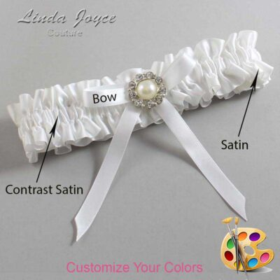 Couture Garters / Custom Wedding Garter / Customizable Wedding Garters / Personalized Wedding Garters / Diana #01-B04-M24 / Wedding Garters / Bridal Garter / Prom Garter / Linda Joyce Couture
