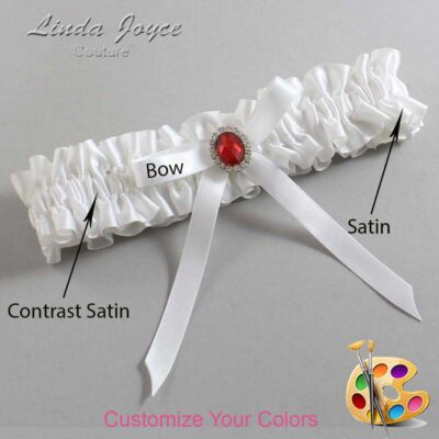 Couture Garters / Custom Wedding Garter / Customizable Wedding Garters / Personalized Wedding Garters / Dottie #01-B04-M26 / Wedding Garters / Bridal Garter / Prom Garter / Linda Joyce Couture