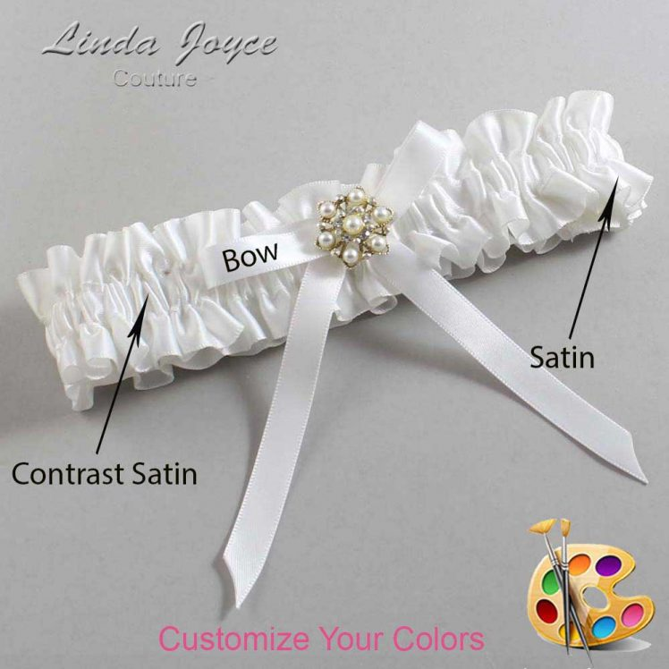 Couture Garters / Custom Wedding Garter / Customizable Wedding Garters / Personalized Wedding Garters / Dirinda #01-B04-M27 / Wedding Garters / Bridal Garter / Prom Garter / Linda Joyce Couture