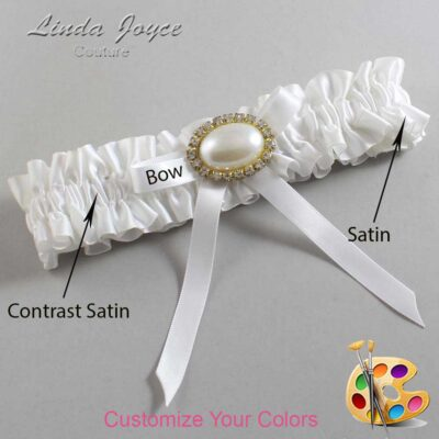 Couture Garters / Custom Wedding Garter / Customizable Wedding Garters / Personalized Wedding Garters / Eliza #01-B04-M28 / Wedding Garters / Bridal Garter / Prom Garter / Linda Joyce Couture