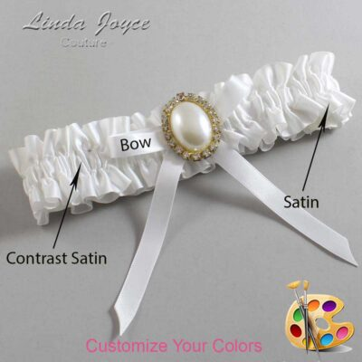 Couture Garters / Custom Wedding Garter / Customizable Wedding Garters / Personalized Wedding Garters / Erin #01-B04-M29 / Wedding Garters / Bridal Garter / Prom Garter / Linda Joyce Couture