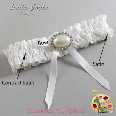Couture Garters / Custom Wedding Garter / Customizable Wedding Garters / Personalized Wedding Garters / Eliza #01-B04-M30 / Wedding Garters / Bridal Garter / Prom Garter / Linda Joyce Couture