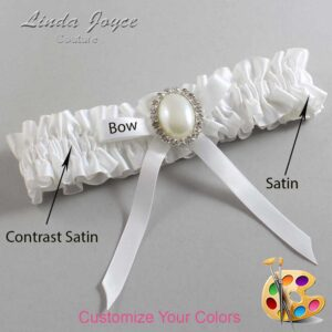 Couture Garters / Custom Wedding Garter / Customizable Wedding Garters / Personalized Wedding Garters / Erin #01-B04-M31 / Wedding Garters / Bridal Garter / Prom Garter / Linda Joyce Couture