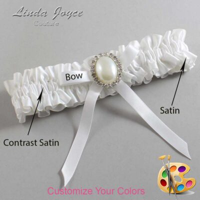 Couture Garters / Custom Wedding Garter / Customizable Wedding Garters / Personalized Wedding Garters / Erin #01-B04-M31 / Wedding Garters / Bridal Garter / Prom Garter / Linda Joyce Couture