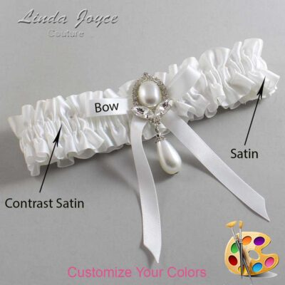Couture Garters / Custom Wedding Garter / Customizable Wedding Garters / Personalized Wedding Garters / Erika #01-B04-M32 / Wedding Garters / Bridal Garter / Prom Garter / Linda Joyce Couture