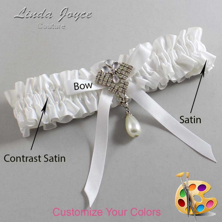 Couture Garters / Custom Wedding Garter / Customizable Wedding Garters / Personalized Wedding Garters / Estelle #01-B04-M33 / Wedding Garters / Bridal Garter / Prom Garter / Linda Joyce Couture