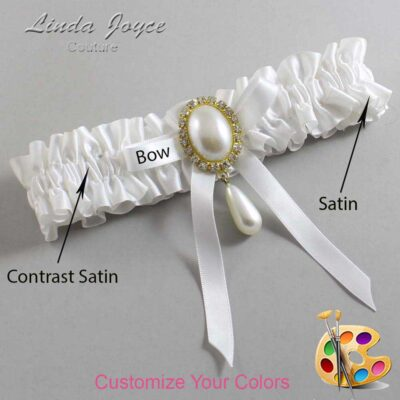 Couture Garters / Custom Wedding Garter / Customizable Wedding Garters / Personalized Wedding Garters / Eunice #01-B04-M34 / Wedding Garters / Bridal Garter / Prom Garter / Linda Joyce Couture