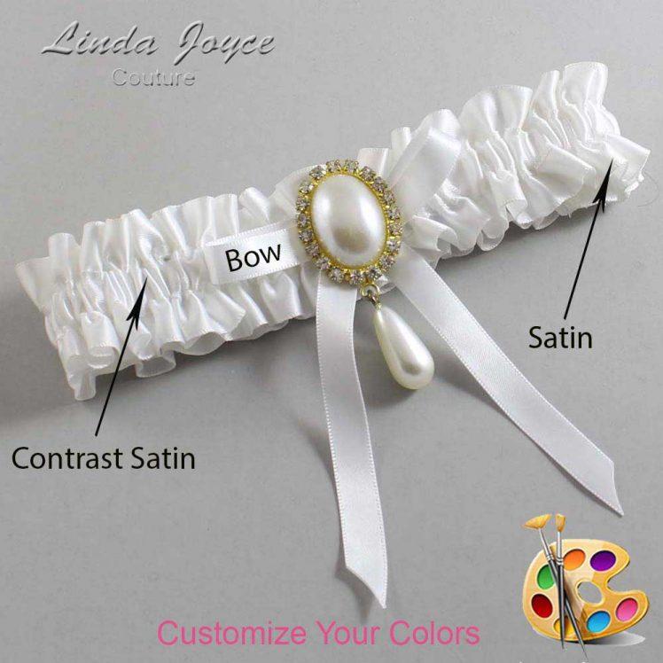 Couture Garters / Custom Wedding Garter / Customizable Wedding Garters / Personalized Wedding Garters / Eunice #01-B04-M34 / Wedding Garters / Bridal Garter / Prom Garter / Linda Joyce Couture