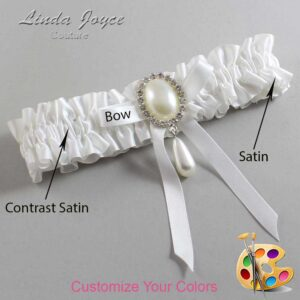 Couture Garters / Custom Wedding Garter / Customizable Wedding Garters / Personalized Wedding Garters / Eunice #01-B04-M35 / Wedding Garters / Bridal Garter / Prom Garter / Linda Joyce Couture