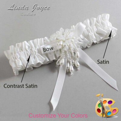Couture Garters / Custom Wedding Garter / Customizable Wedding Garters / Personalized Wedding Garters / Desiree #01-B04-M38 / Wedding Garters / Bridal Garter / Prom Garter / Linda Joyce Couture