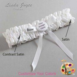 Customizable Wedding Garter / US-Military Custom Button #01-B04-M44