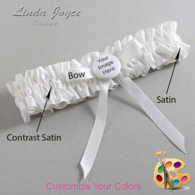 Couture Garters / Custom Wedding Garter / Customizable Wedding Garters / Personalized Wedding Garters / Custom Button #01-B04-M44 / Wedding Garters / Bridal Garter / Prom Garter / Linda Joyce Couture