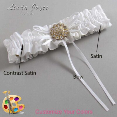 Couture Garters / Custom Wedding Garter / Customizable Wedding Garters / Personalized Wedding Garters / Charlene #01-B10-M12 / Wedding Garters / Bridal Garter / Prom Garter / Linda Joyce Couture