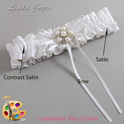 Couture Garters / Custom Wedding Garter / Customizable Wedding Garters / Personalized Wedding Garters / Darci #01-B10-M13 / Wedding Garters / Bridal Garter / Prom Garter / Linda Joyce Couture