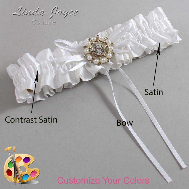 Couture Garters / Custom Wedding Garter / Customizable Wedding Garters / Personalized Wedding Garters / Dawn #01-B10-M14 / Wedding Garters / Bridal Garter / Prom Garter / Linda Joyce Couture
