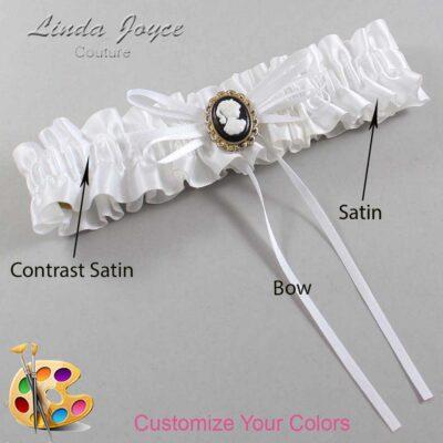 Couture Garters / Custom Wedding Garter / Customizable Wedding Garters / Personalized Wedding Garters / Hazel #01-B10-M15 / Wedding Garters / Bridal Garter / Prom Garter / Linda Joyce Couture