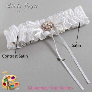 Couture Garters / Custom Wedding Garter / Customizable Wedding Garters / Personalized Wedding Garters / Belinda #01-B10-M16 / Wedding Garters / Bridal Garter / Prom Garter / Linda Joyce Couture