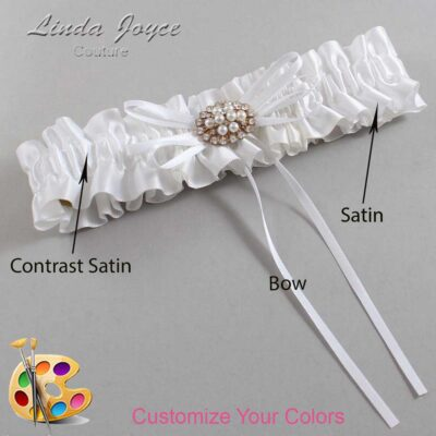 Couture Garters / Custom Wedding Garter / Customizable Wedding Garters / Personalized Wedding Garters / Belinda #01-B10-M16 / Wedding Garters / Bridal Garter / Prom Garter / Linda Joyce Couture