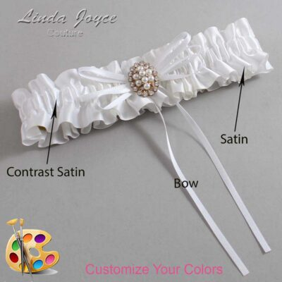 Couture Garters / Custom Wedding Garter / Customizable Wedding Garters / Personalized Wedding Garters / Gwen #01-B10-M17 / Wedding Garters / Bridal Garter / Prom Garter / Linda Joyce Couture