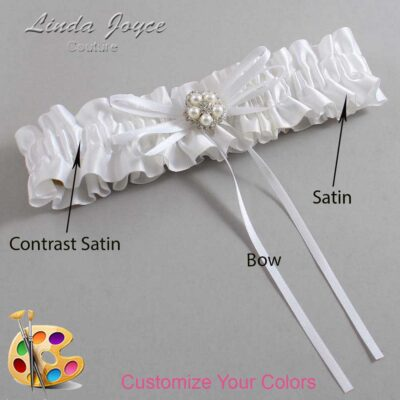 Couture Garters / Custom Wedding Garter / Customizable Wedding Garters / Personalized Wedding Garters / Gail #01-B10-M20 / Wedding Garters / Bridal Garter / Prom Garter / Linda Joyce Couture