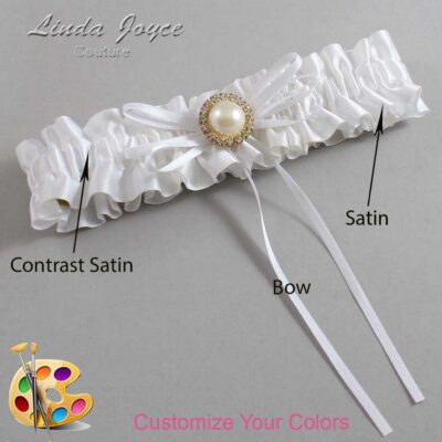 Couture Garters / Custom Wedding Garter / Customizable Wedding Garters / Personalized Wedding Garters / Faith #01-B10-M21 / Wedding Garters / Bridal Garter / Prom Garter / Linda Joyce Couture