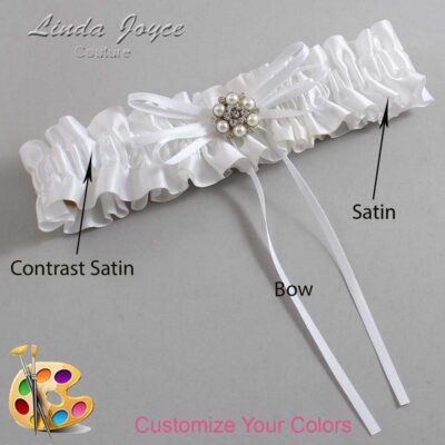 Couture Garters / Custom Wedding Garter / Customizable Wedding Garters / Personalized Wedding Garters / Ellen #01-B10-M23 / Wedding Garters / Bridal Garter / Prom Garter / Linda Joyce Couture