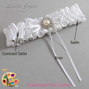 Couture Garters / Custom Wedding Garter / Customizable Wedding Garters / Personalized Wedding Garters / Irene #01-B10-M24 / Wedding Garters / Bridal Garter / Prom Garter / Linda Joyce Couture