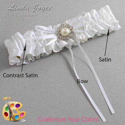 Customizable Wedding Garter / Irene #01-B10-M24