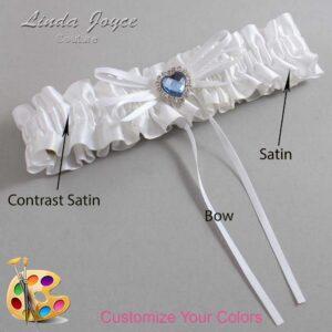 Couture Garters / Custom Wedding Garter / Customizable Wedding Garters / Personalized Wedding Garters / Jill #01-B10-M25 / Wedding Garters / Bridal Garter / Prom Garter / Linda Joyce Couture