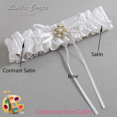 Couture Garters / Custom Wedding Garter / Customizable Wedding Garters / Personalized Wedding Garters / Helen #01-B10-M27 / Wedding Garters / Bridal Garter / Prom Garter / Linda Joyce Couture