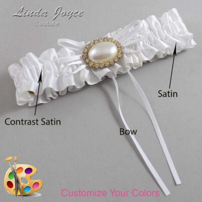 Customizable Wedding Garter / Jacque #01-B10-M28