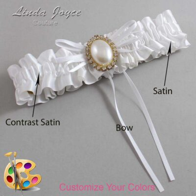 Couture Garters / Custom Wedding Garter / Customizable Wedding Garters / Personalized Wedding Garters / Evonne #01-B10-M29 / Wedding Garters / Bridal Garter / Prom Garter / Linda Joyce Couture