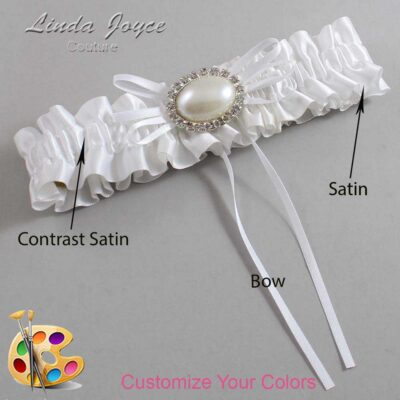 Couture Garters / Custom Wedding Garter / Customizable Wedding Garters / Personalized Wedding Garters / Jacque #01-B10-M30 / Wedding Garters / Bridal Garter / Prom Garter / Linda Joyce Couture