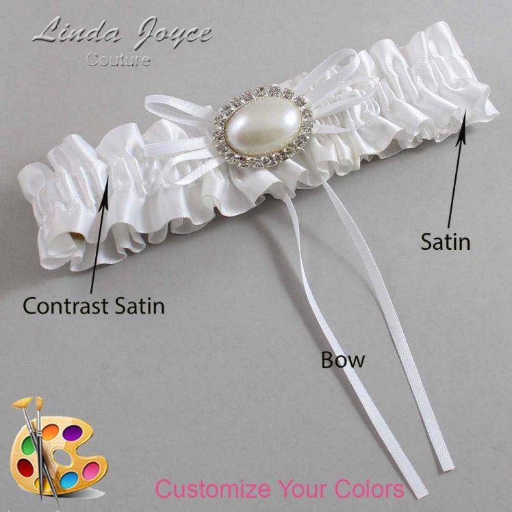 Couture Garters / Custom Wedding Garter / Customizable Wedding Garters / Personalized Wedding Garters / Jacque #01-B10-M30 / Wedding Garters / Bridal Garter / Prom Garter / Linda Joyce Couture