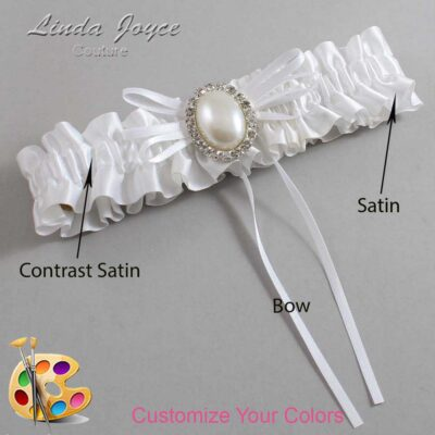 Couture Garters / Custom Wedding Garter / Customizable Wedding Garters / Personalized Wedding Garters / Evonne #01-B10-M31 / Wedding Garters / Bridal Garter / Prom Garter / Linda Joyce Couture