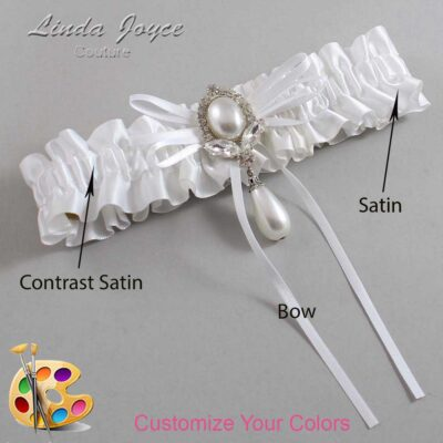 Couture Garters / Custom Wedding Garter / Customizable Wedding Garters / Personalized Wedding Garters / JoAnn #01-B10-M32 / Wedding Garters / Bridal Garter / Prom Garter / Linda Joyce Couture