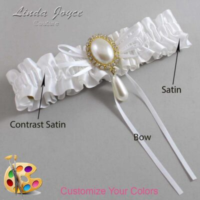 Couture Garters / Custom Wedding Garter / Customizable Wedding Garters / Personalized Wedding Garters / Andrea #01-B10-M34 / Wedding Garters / Bridal Garter / Prom Garter / Linda Joyce Couture