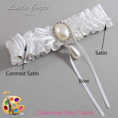 Couture Garters / Custom Wedding Garter / Customizable Wedding Garters / Personalized Wedding Garters / Andrea #01-B10-M35 / Wedding Garters / Bridal Garter / Prom Garter / Linda Joyce Couture