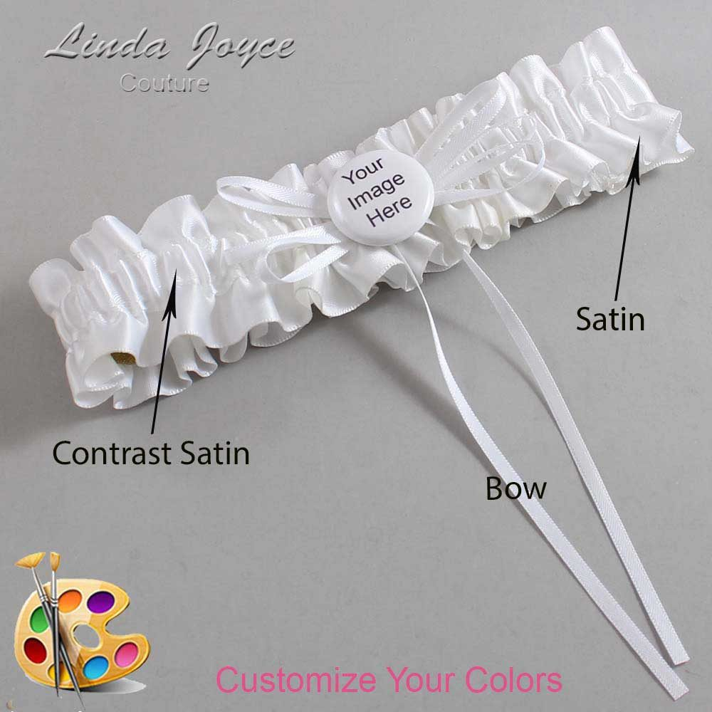 Customizable Wedding Garter / US-Military Custom Button #01-B10-M44
