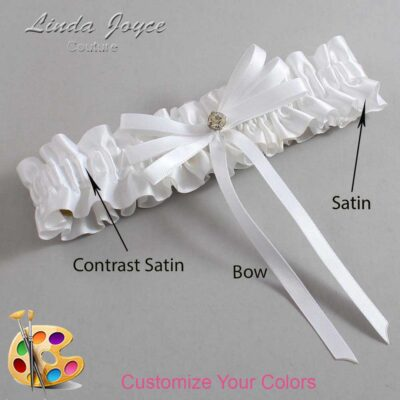 Couture Garters / Custom Wedding Garter / Customizable Wedding Garters / Personalized Wedding Garters / Audry #01-B11-M03 / Wedding Garters / Bridal Garter / Prom Garter / Linda Joyce Couture