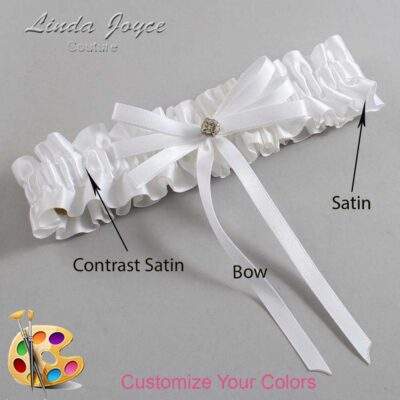 Couture Garters / Custom Wedding Garter / Customizable Wedding Garters / Personalized Wedding Garters / Audry #01-B11-M04 / Wedding Garters / Bridal Garter / Prom Garter / Linda Joyce Couture