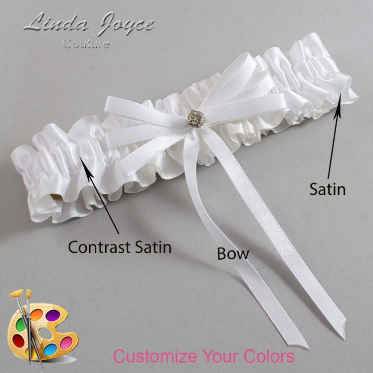 Couture Garters / Custom Wedding Garter / Customizable Wedding Garters / Personalized Wedding Garters / Audry #01-B11-M04 / Wedding Garters / Bridal Garter / Prom Garter / Linda Joyce Couture