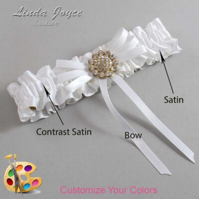 Couture Garters / Custom Wedding Garter / Customizable Wedding Garters / Personalized Wedding Garters / Bambi #01-B11-M12 / Wedding Garters / Bridal Garter / Prom Garter / Linda Joyce Couture