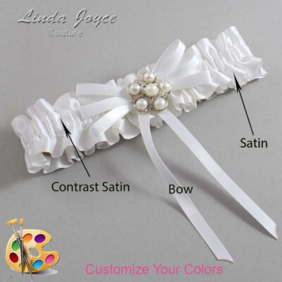 Couture Garters / Custom Wedding Garter / Customizable Wedding Garters / Personalized Wedding Garters / Bailey #01-B11-M13 / Wedding Garters / Bridal Garter / Prom Garter / Linda Joyce Couture